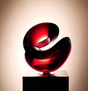 Vlastimil Beránek: Untitled Red Sculpture, Diameter: 60 cm