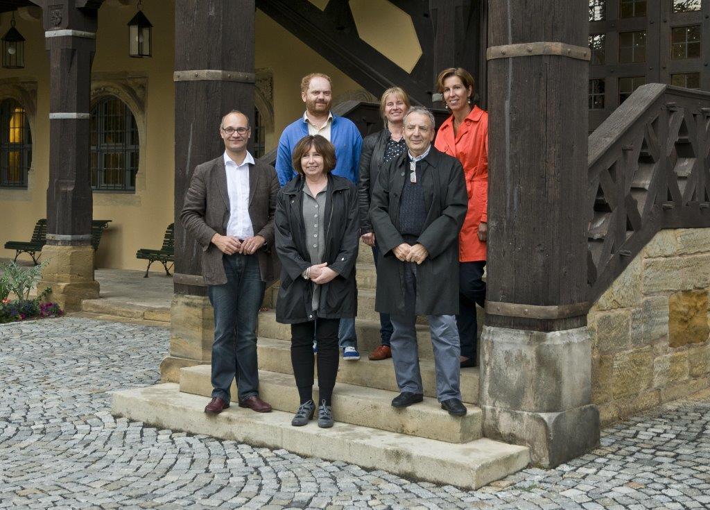 Glaspreis-Jury Coburg (Sven Hauschke, Milan Hlaves, Susanne Joker-Johnson, Anne Vanlatum, Jutta Page, Peter Layton)